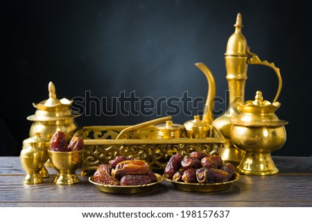 ramadan food also known as kurma , Palm dates - stock photo