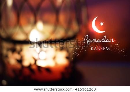 Ramadan greetings background. - stock photo