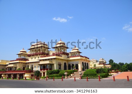 Rambagh Palace Jaipur India - stock photo