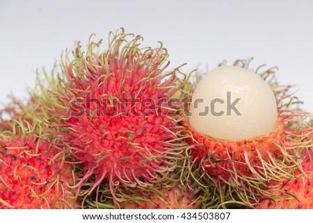 rambutan sweet delicious of fresh Thai rambutans - stock photo