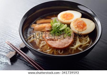 ramen noodle - stock photo