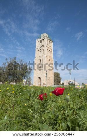 Ramla, Tower of Ramla - stock photo