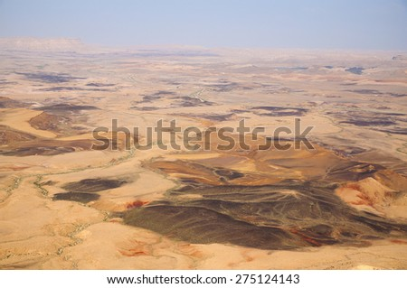 Ramon's Crater, Israel, Middle Eastern desert - stock photo