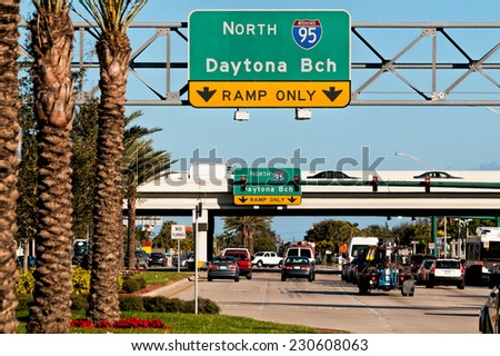 Ramp to I95 in West Palm Beach, Florida - stock photo