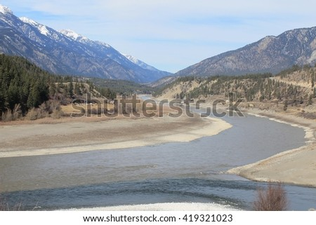 Ranching where the Thompson meets the Fraser - stock photo