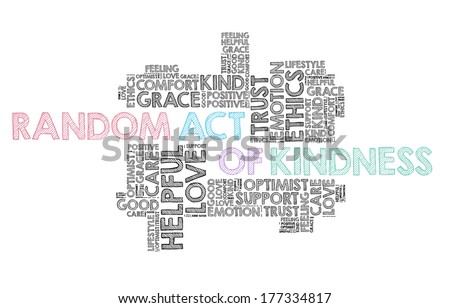 Random act of kindness in word cloud - stock photo