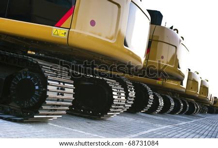 Ranged Excavators - stock photo