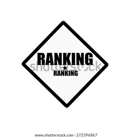 Ranking black stamp text on white background - stock photo