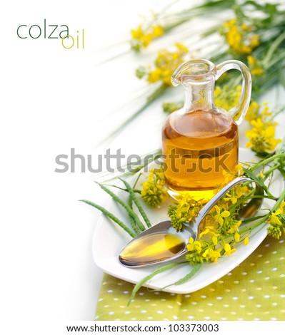 Rapeseed Oil - stock photo