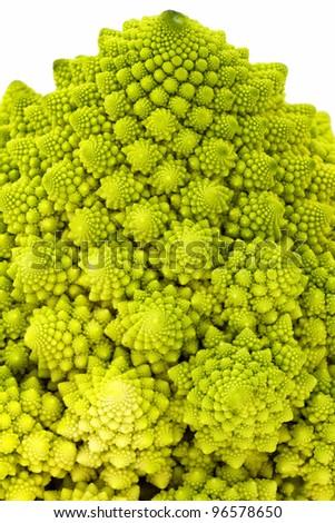 Rare special broccoli (Romanesco broccoli cabbage) - stock photo