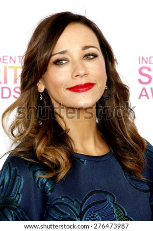 Rashida Jones at the 2013 Film Independent Spirit Awards held at the Santa Monica Beach in Los Angeles, United States, 230213.  - stock photo