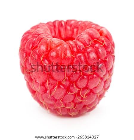 raspberries isolated on white background  - stock photo