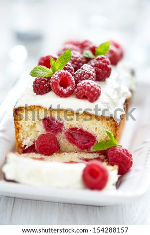Raspberry Cake for holidays - stock photo