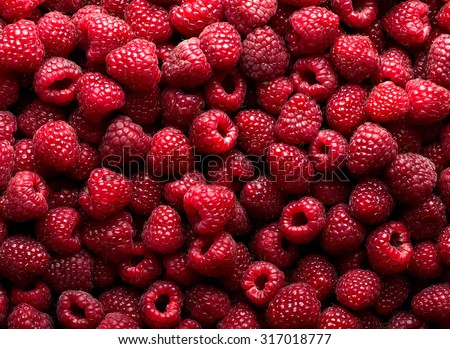 Raspberry fruit background - stock photo