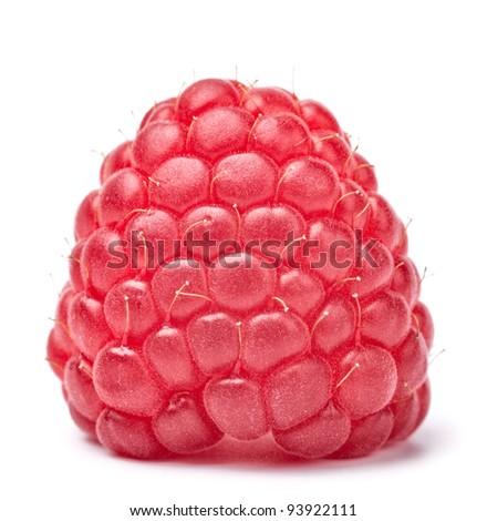 raspberry isolated on white background - stock photo