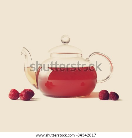 Raspberry tea - stock photo