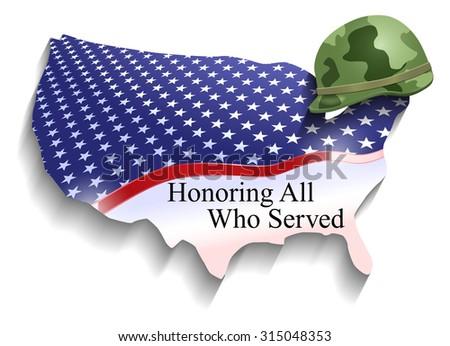 Raster Conceptual Veterans Day Illustration - stock photo