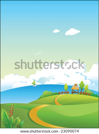 Raster decorative illustration,created with digital software,designed for background, web wallpaper template - stock photo