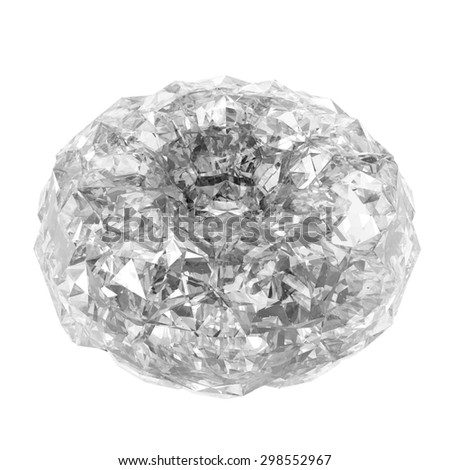 Raster diamond in the shape of a torus. Render in 3D program. - stock photo