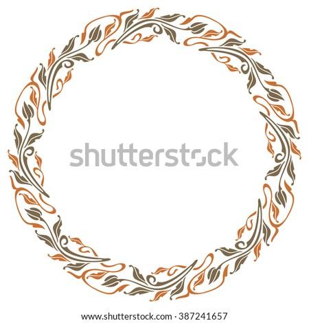 Raster elegant frame in art nouveau style - stock photo