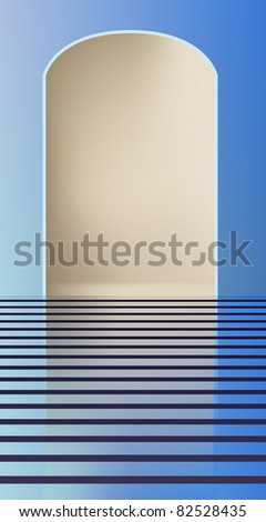 raster empty fashion runway to place your model, vector version available - stock photo