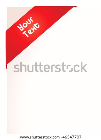 Raster graphic depicting a red banner ribbon around paper - stock photo