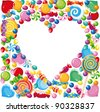raster illustration of a candy heart - stock photo