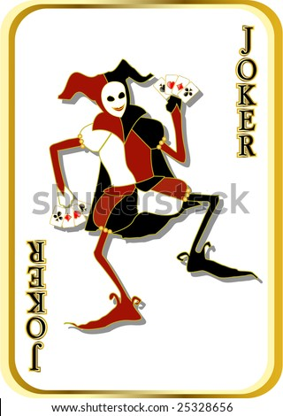 raster joker - stock photo