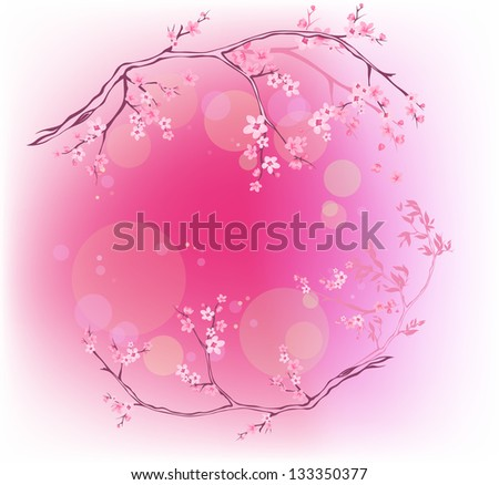 raster - spring blooming background - four seasons collection (vector version is available in my portfolio) - stock photo