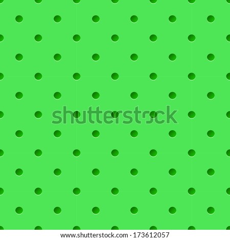 Raster version. Abstract background of perforated pattern in green. - stock photo