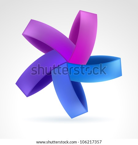 Raster version. Abstract Violet Web Element. Illustration on white - stock photo