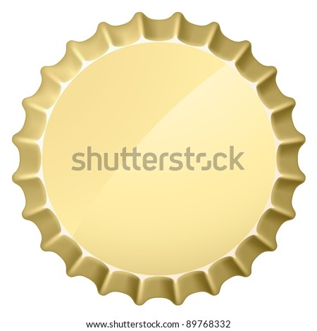 Raster version. Bottle cap. Illustration on white background for design - stock photo