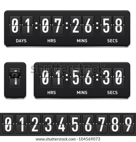 Raster version. Countdown timer. Illustration on white background for design - stock photo