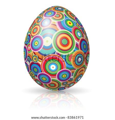 Raster version. Easter Egg.  illustration on white background for design - stock photo