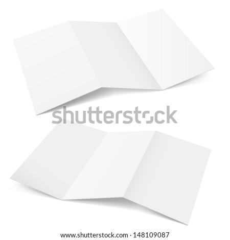 Raster version. Folded Paper. Illustration on white background for creative design. - stock photo