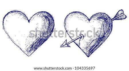 Raster version. Heart - stock photo