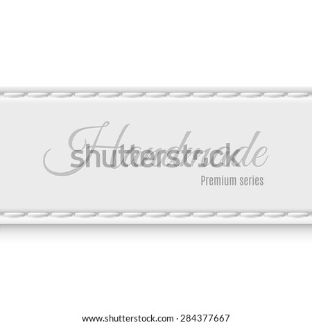 Raster version. Label premium series of gray fabric handmade