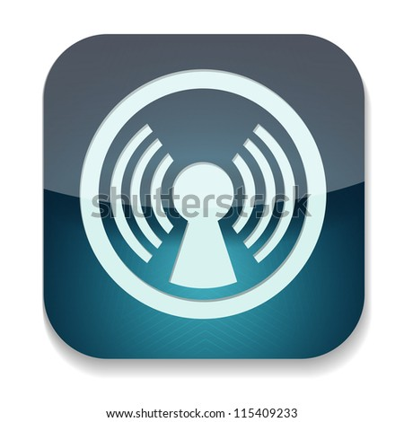 raster version of icon with antenna inside - stock photo