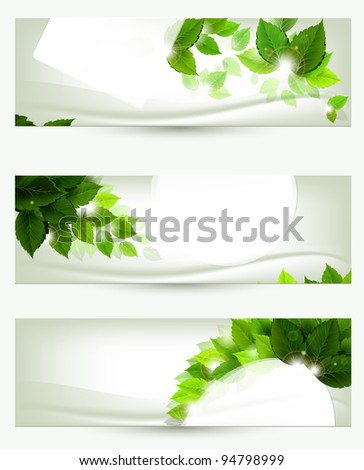 raster version of set of three banners - stock photo