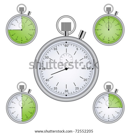 Raster version of Stopwatch set with 15 min interval timers (vector available in portfolio) - stock photo