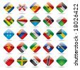 Raster version of vector set world flag icons 5 - stock photo