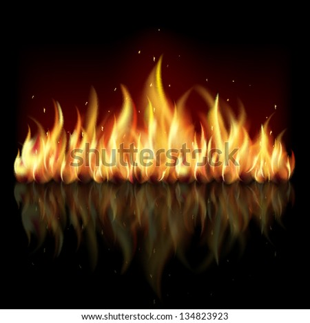 Raster version of vector slack background with flame. - stock photo