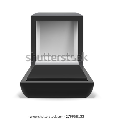 Raster version. Open box for jewelry on  white background