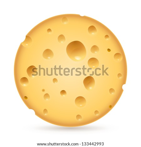 Raster version. Realistic head cheese. Illustration on white background for creative design. - stock photo