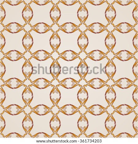 Raster version. Saturated seamless abstract floral pattern in the form of mesh - stock photo