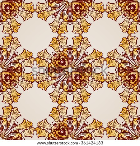 Raster version. Seamless abstract floral pattern in the form of saturated mesh - stock photo