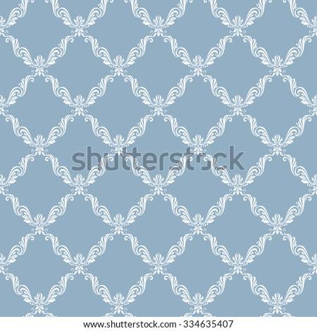 Raster version. Seamless luxury vintage floral pattern background style - stock photo