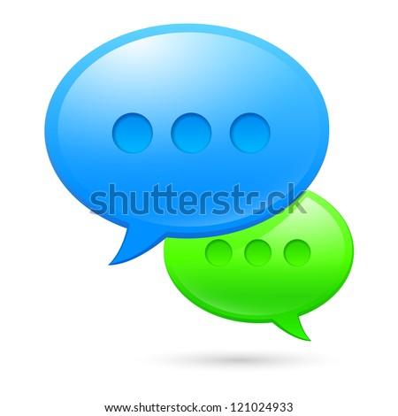 Raster version. Sms icons. Illustration on white background for design - stock photo