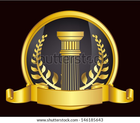 Golden crown columns stock photos images pictures Crown columns
