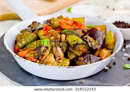 Ratatouille french dish from provence (selective focus) - stock photo